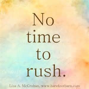 WP no time to rush