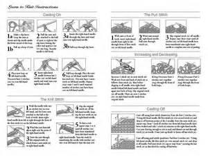 WP knitting instructions